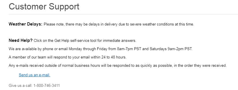 Skechers customer support