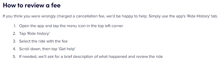 Lyft how to review fees