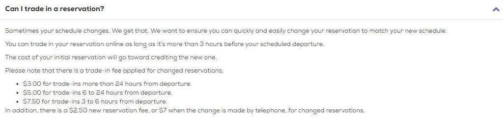 Megabus reservation fees