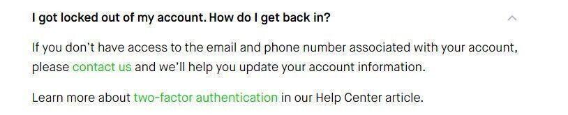 Robinhood locked out account help