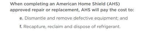 AHS repair conditions
