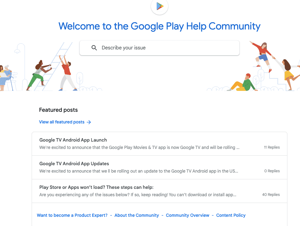 Featured posts on Google Play Community